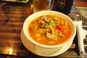 TOM YUM soup... this was a staple in our diets for three weeks (almost)
