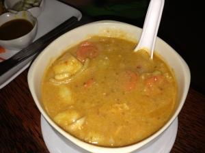 cocunut/peanut soup (can still remember the taste)
