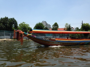 The front of the boats were decorated for good luck