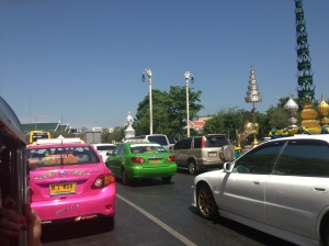 Colourful Cabs in a traffic jam...
