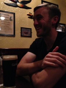 Meeting friends in Dublin - one of the locals!