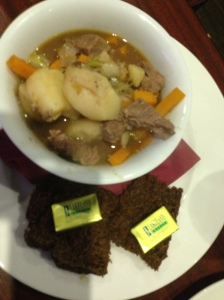 Lamb Stew with Guinness bread! Yum!